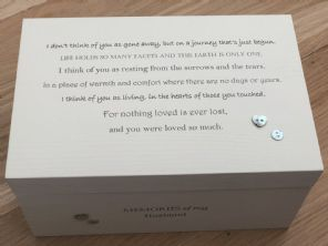 Personalised LARGE Box In Memory Of A Loved One HUSBAND Or Any Name Shabby Chic - 232684749049